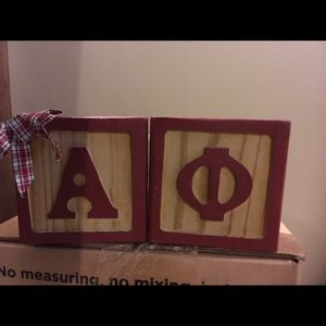 Alpha Phi Wooden Decorative Blocks A ϕ